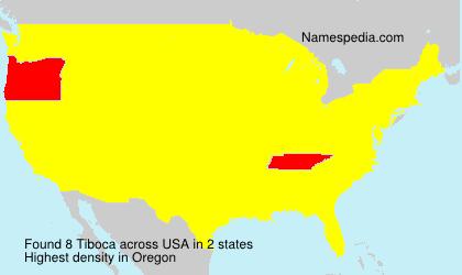 Surname Tiboca in USA