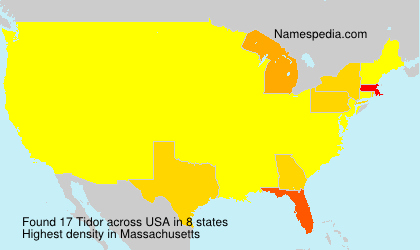 Surname Tidor in USA