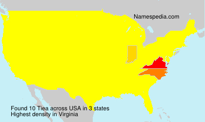 Surname Tiea in USA