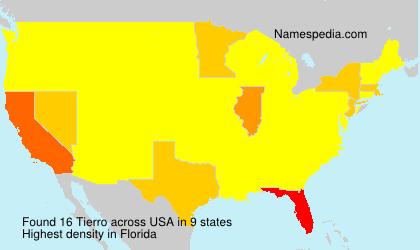 Familiennamen Tierro - USA