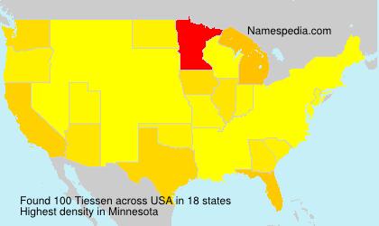 Familiennamen Tiessen - USA