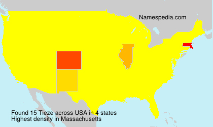 Surname Tieze in USA