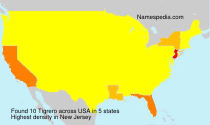 Surname Tigrero in USA