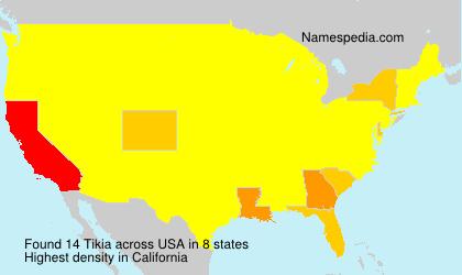 Familiennamen Tikia - USA