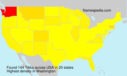 Surname Tikka in USA