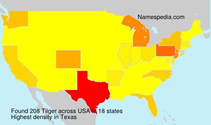 Familiennamen Tilger - USA