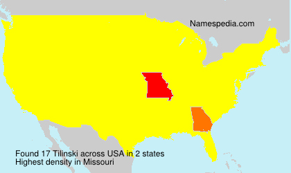 Surname Tilinski in USA