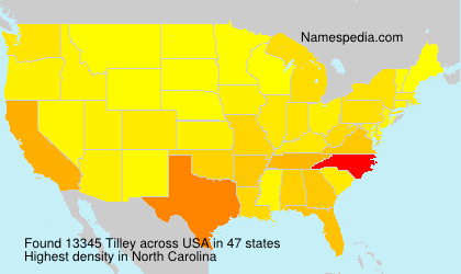 Surname Tilley in USA