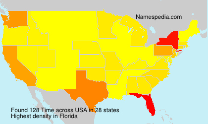 Surname Time in USA