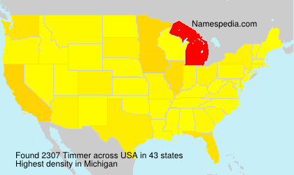 Surname Timmer in USA