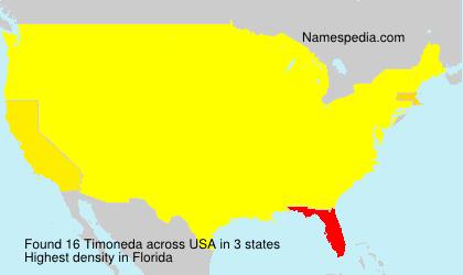 Surname Timoneda in USA