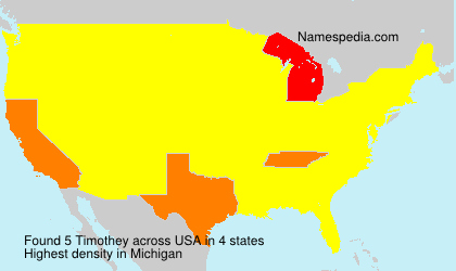 Surname Timothey in USA