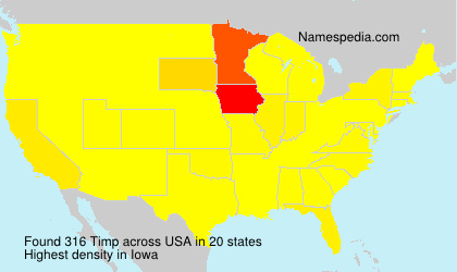 Surname Timp in USA