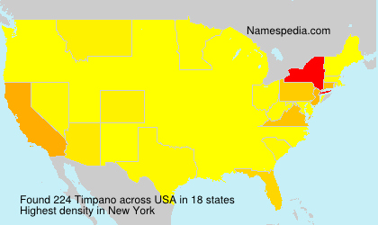 Surname Timpano in USA
