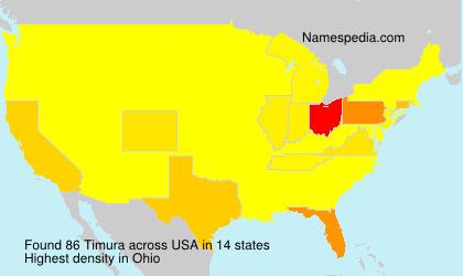 Surname Timura in USA