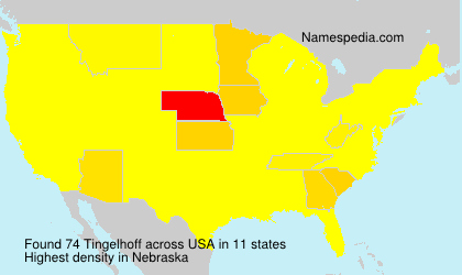 Surname Tingelhoff in USA