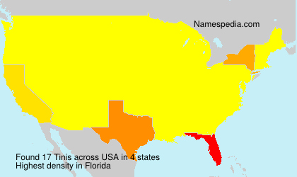 Surname Tinis in USA