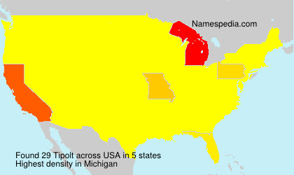 Surname Tipolt in USA