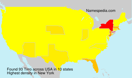 Surname Tirro in USA