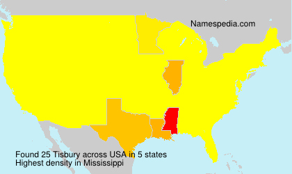 Surname Tisbury in USA