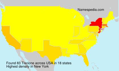 Surname Tiscione in USA