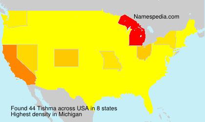 Surname Tishma in USA
