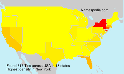 Surname Tiso in USA
