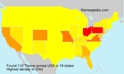 Surname Tisone in USA