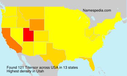 Surname Titensor in USA