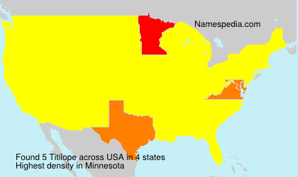 Surname Titilope in USA