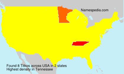 Surname Titkos in USA