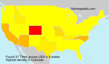 Familiennamen Tittes - USA