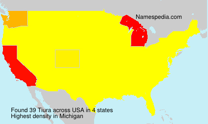 Surname Tiura in USA