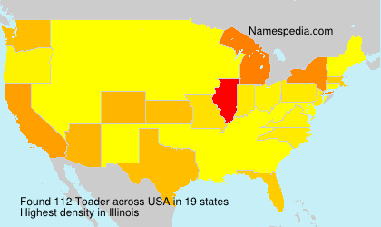 Surname Toader in USA
