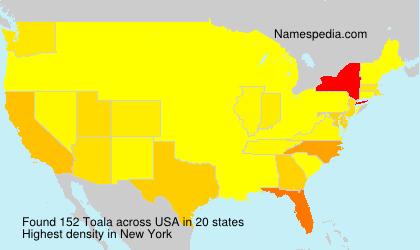 Familiennamen Toala - USA