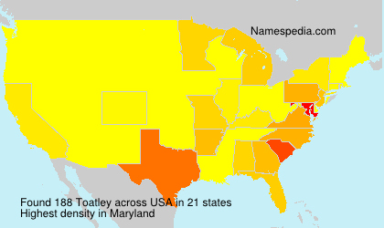 Surname Toatley in USA