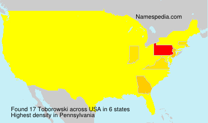 Surname Toborowski in USA