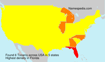 Familiennamen Tocarra - USA