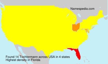 Surname Tochtermann in USA