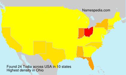 Familiennamen Todia - USA