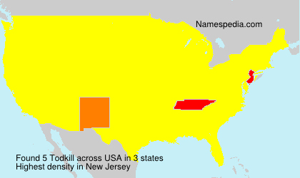 Surname Todkill in USA