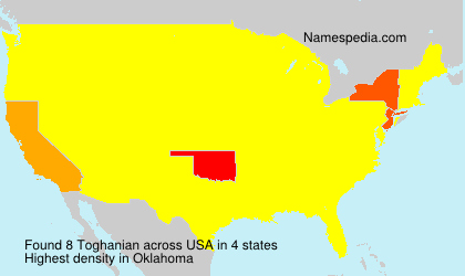 Surname Toghanian in USA