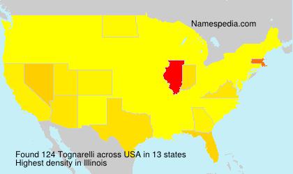 Familiennamen Tognarelli - USA
