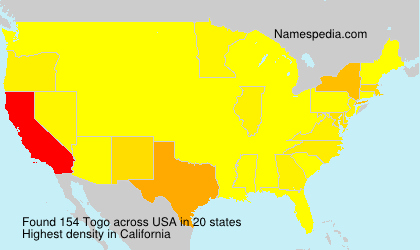 Surname Togo in USA
