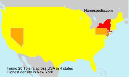 Surname Tojeira in USA