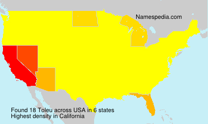 Surname Toleu in USA