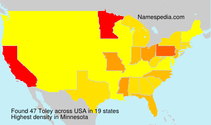 Surname Toley in USA