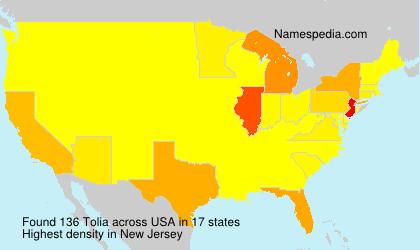 Surname Tolia in USA