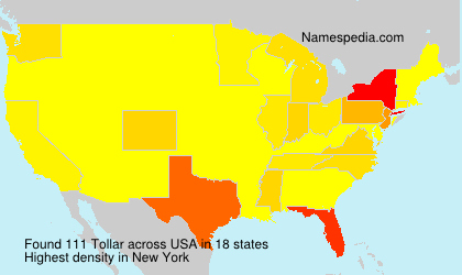 Surname Tollar in USA