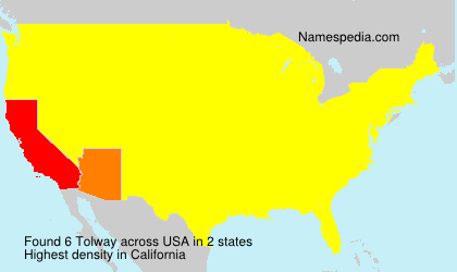 Surname Tolway in USA